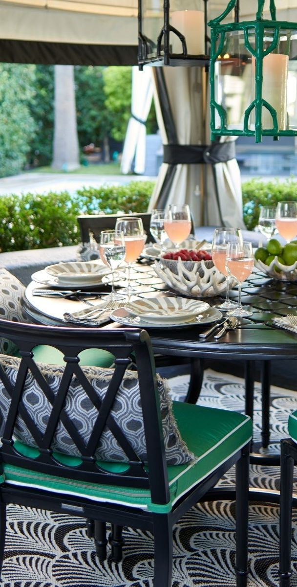 The perfect garden party. That's what Grayson calls to mind.   Frontgate: Live Beautifully Outdoors