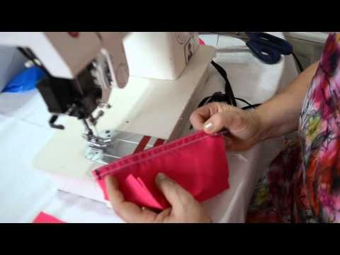 Como fazer costura com debrum ou viés - Aula 55 - YouTube