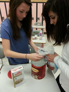 Make ice cream in a coffee tin to teach about heat and temperature and melting points!  Grade 7 Science