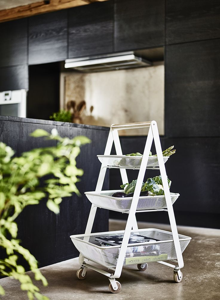 the three easytoclean metal mesh shelves provide good ventilation so fruits and vegetables stay fresher longer and the birch handle and