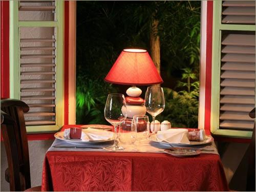 Le Pressoir Restaurant on #StMartin - such a romantic restaurant.  Food is great!
