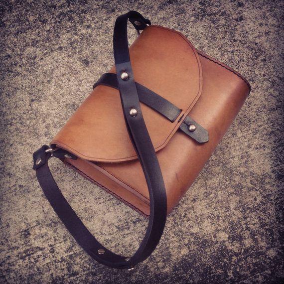 Handmade Leather Shoulder / Handbag by EleishaNylund on Etsy, $210.00