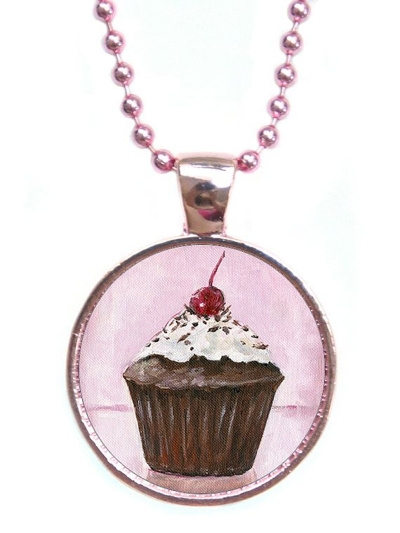 Chocolate Cupcake Pendant Necklace by ScentedSweets on Etsy