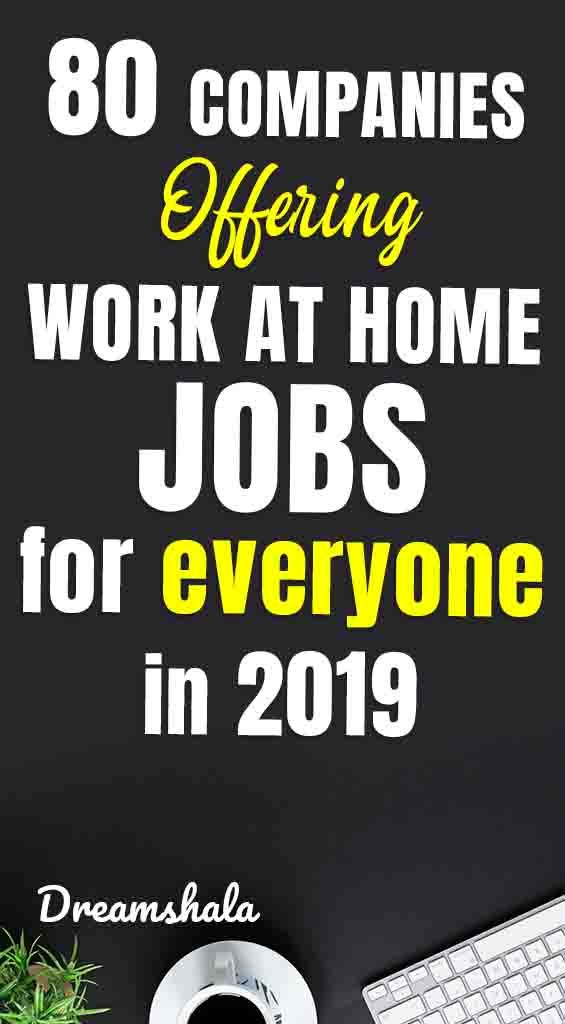 80+ Genuine Ways To Find Work At Home Jobs in 2019