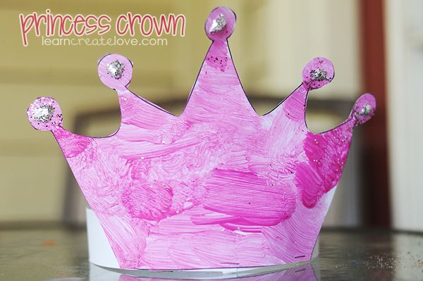 Princess crown craft with printable