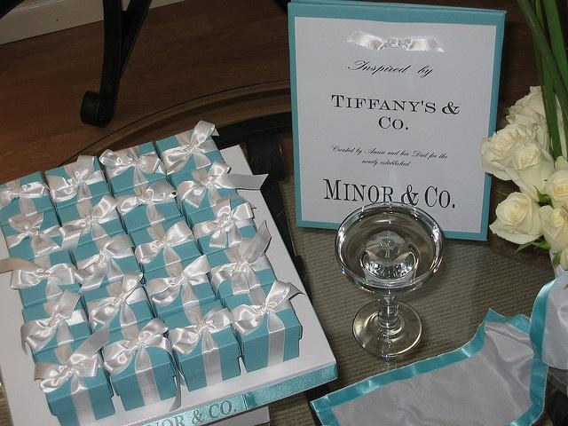 tiffany box blue gift shower ideas bridal shower pakistani bridal ...