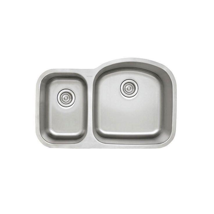 Grey One Hole Double Kitchen Undermount Sink