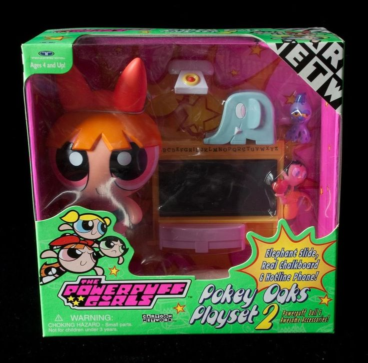 POWER PUFF POWERPUFF GIRLS Pokey Oaks Playset 2 BLOSSOM 2000 NRFB Cartoon Networ