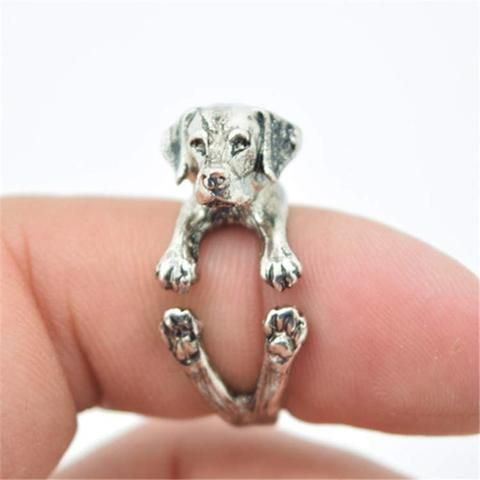 I Love My Labrador Vintage Style Ring