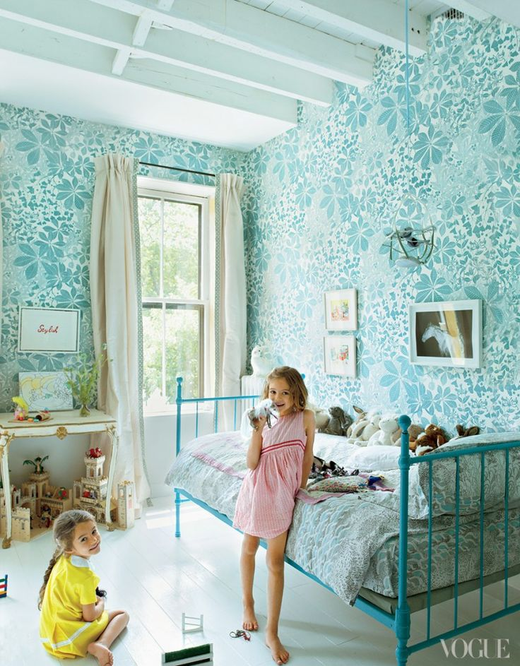 blauwe kinderkamer voor meisjes