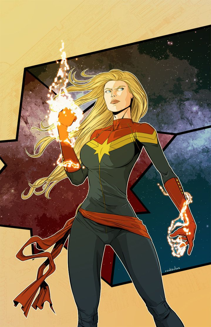 "thehappysorceress: "" Captain Marvel - Carol Danvers by Salvador Velázquez "" She's gonna be so cool in her movie! So nice to finally get a kick-ass female lead in Marvel."
