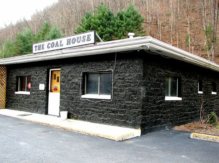 THE COAL HOUSE - BUILT WITH 30 TONS OF WEST VIRGINIA ANTHRACITE COAL - IN WHITE SULPHUR SPRINGS' EAST END, ON US-60 NEAR ENTRANCE TO INTERSTATE 64