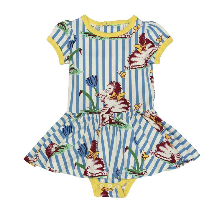 Rock Your Baby - Striped Kitten Bodysuit