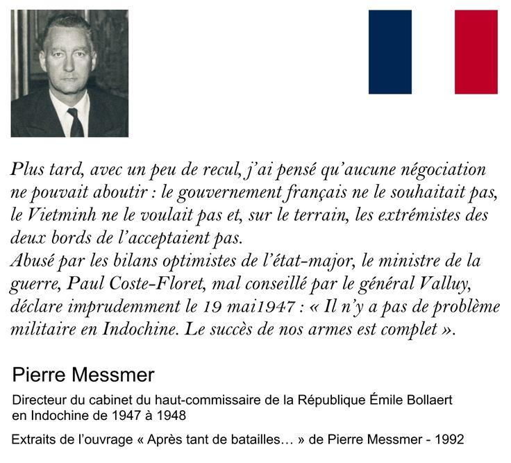Guerre en Indochine. Indochina war. Pierre Messmer.