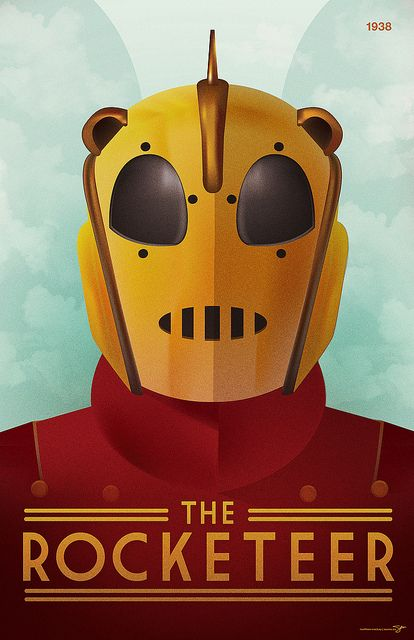 The Rocketeer movie poster by Darmouth, NS native Seamz.