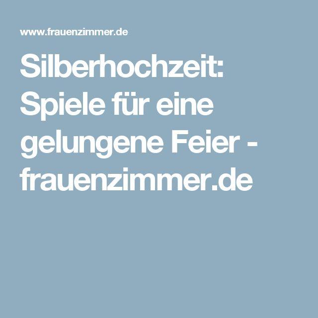 Silberhochzeit: Spiele für eine gelungene Feier - frauenzimmer.de