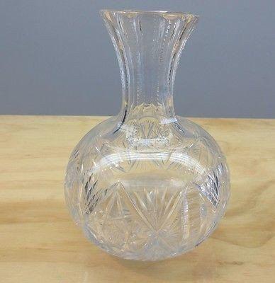 19thC Victorian HAWKES Brilliant Palermo Cut Glass Beverage Wine Carafe Decanter