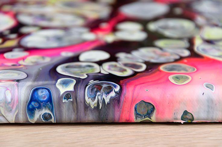 Amplify I -   Abstract painting Acrylic on canvas 30x30 cm  Read more: https://artbylonfeldt.dk