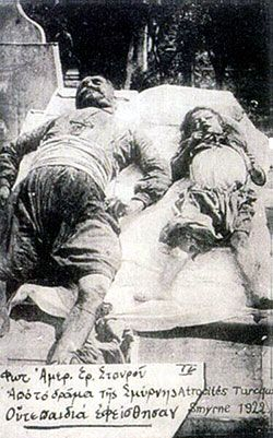 Turkish atrocities in Smyrna 1922. Photo: American red Cross.