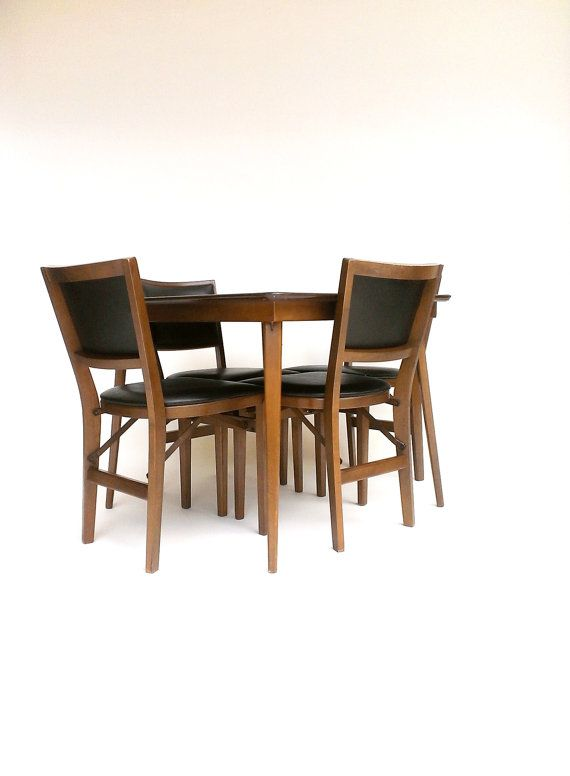 stakmore folding table chairs card table four chair set stakmore table and chairs chairs and. Black Bedroom Furniture Sets. Home Design Ideas