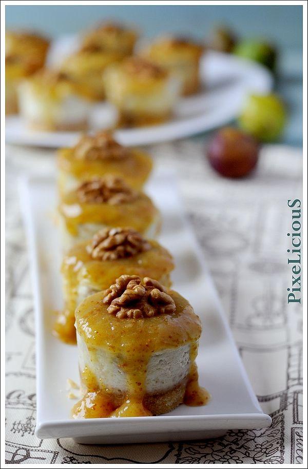mini cheesecake salate zola e fichi