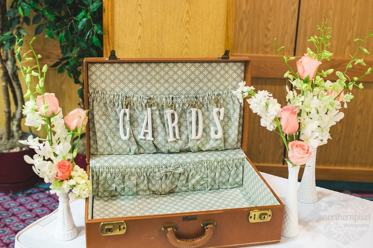 Suitcase for cards - Ramada Prince George Wedding Reception