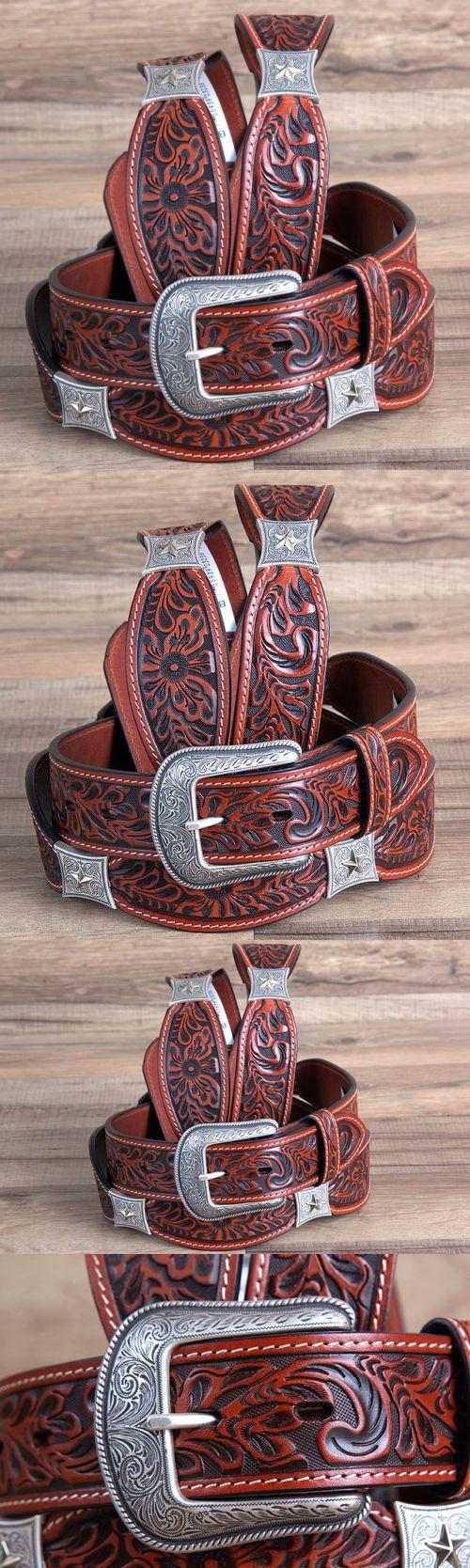 Baseball Belts 181334: 42 3D 1 3 4 Cognac Brown Floral Leather Mens Cowboy Western Fashion Belt -> BUY IT NOW ONLY: $54.99 on eBay!