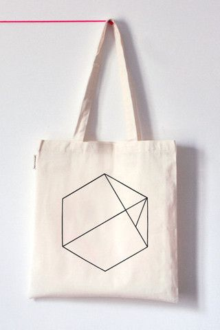 Hexagon Tote Bag Handmade in the USA www.koromiko.com #FairTuesdayGifts for my nerds that carry books and stuff.