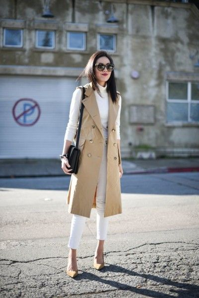 Trend Alert: Sleeveless Coat Outfit Ideas  read more: http://www.ferbena.com/trend-alert-sleeveless-coat-outfit-ideas.html
