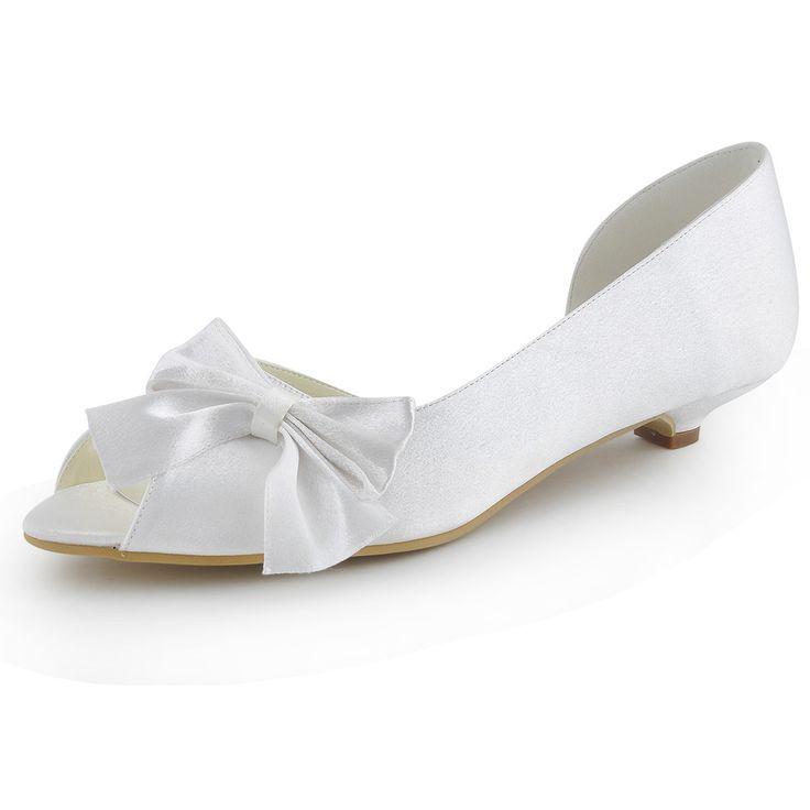 Бесплатный Shpping Мода Туфли WM-019 Peep Toe Лук 1 Конус Пятки Атласные женские Свадебные Туфли На Низком Каблуке