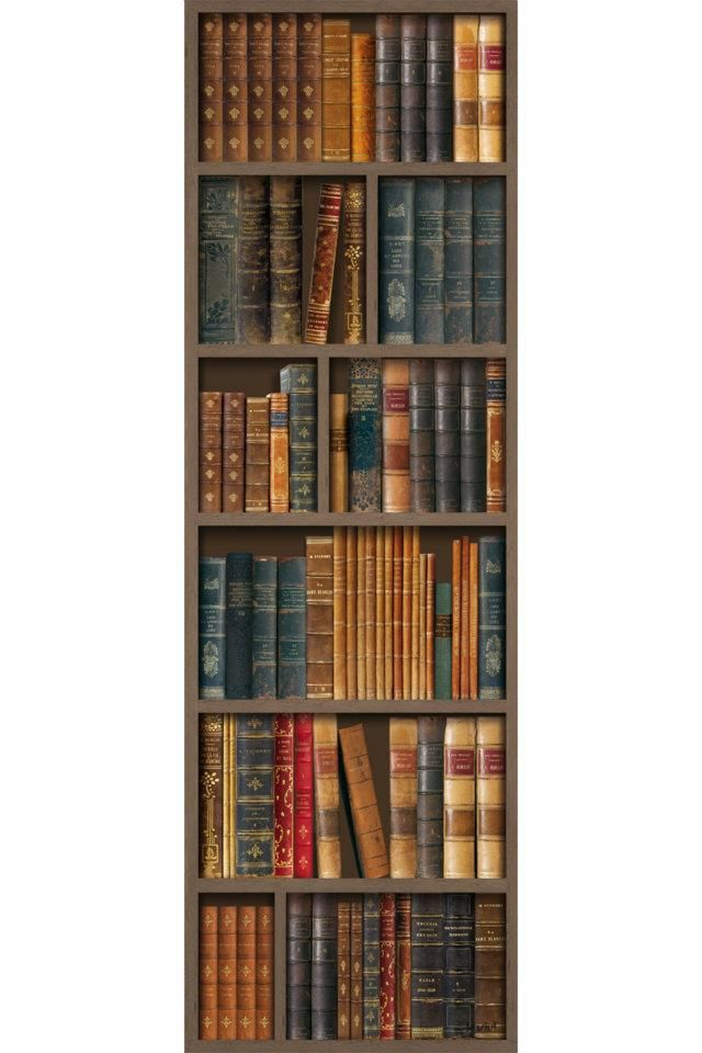 63 Best Images About Bookcase Wallpaper On Pinterest Bookshelves Paint Effects And Bookcases