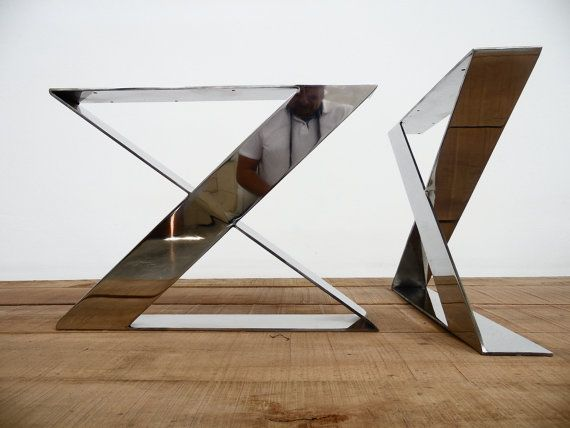 X Frame Wide Flat Stainless Steel Table Legs, Width Base, Bench Legs,height  To , On Etsy