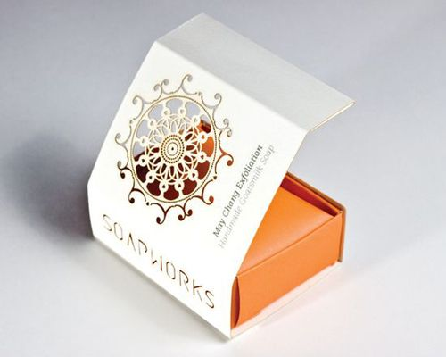 Handmade Soap Packaging | Above: soap box packaging; Photo source: TheDieline.com