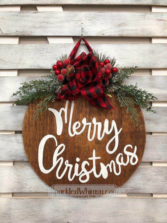 Christmas Decor Grouch Christmas Door Hanger