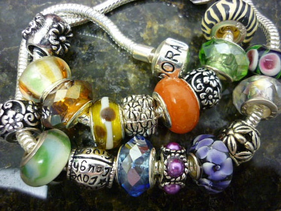 SALE Grab BAG Pandora Style Beads 10 Beads Murano by GreenBohemia, $16.00
