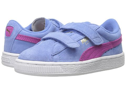 Puma Kids Suede 2 Straps Toddler Little Kid Big Kid Marina Blue Meadow Mauve,  Puma,