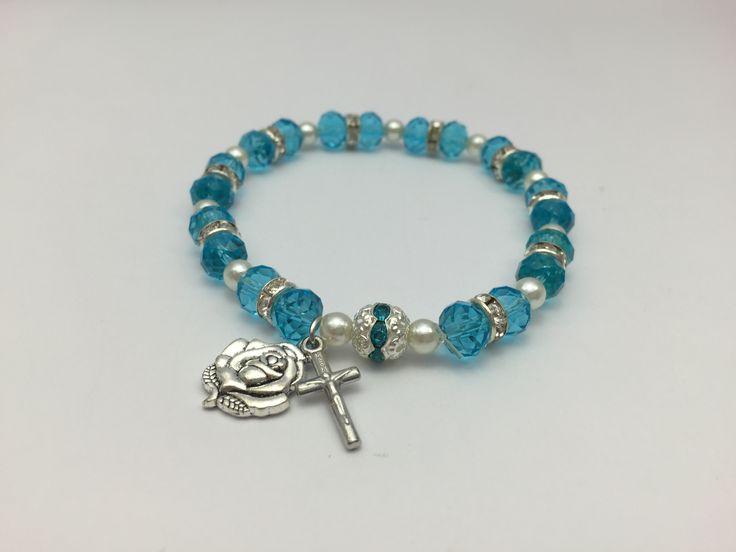 Blue Crystal Lourdes Bracelet.