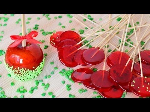 Яблоки в карамели и леденцы. Прекрасно подойдут для кэнди-бара и подарков на праздники!!! ☆Рецепт: яблоки 400 гр сахара 60 мл воды 200 гр глюкозного сиропа п...