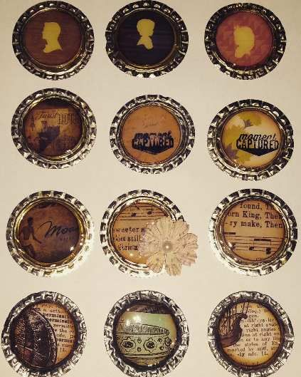 Badges vintage fait partir de capsules de bi res mes for Badge fait maison
