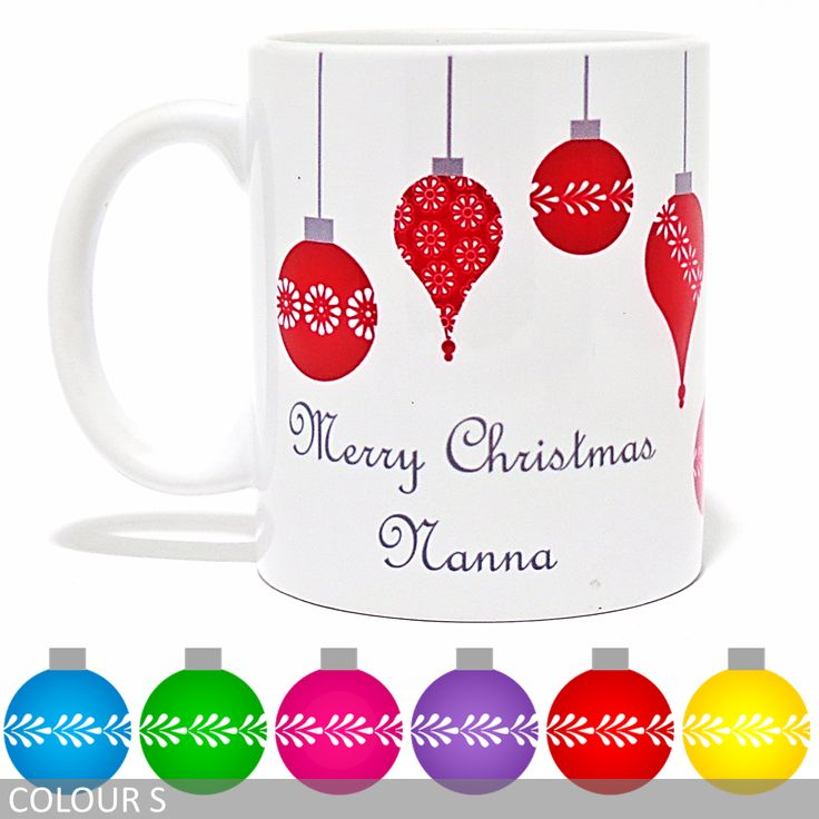 Personalised 'Merry Christmas' Mug - Hanging Ornaments