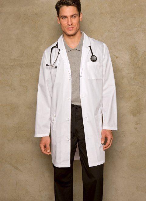 3461e95c587040 Dickies Medical Scrubs EDS Signature White Men's Lab Coat 37