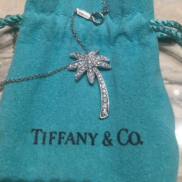 Tiffany co diamond palm tree pendant tiffany co gorgeous tiffany co diamond palm tree pendant tiffany co gorgeous glittering platinum and diamond palm tree pendant 16 inch platinum chain palm aloadofball Images