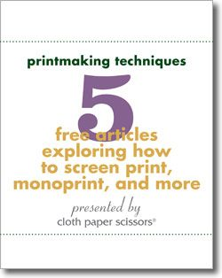 Download your 5 free articles on how to screen print, sunprint, nature print, collograph print and monoprint.
