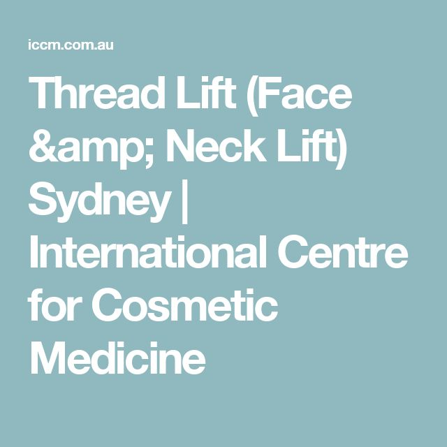 Thread Lift (Face & Neck Lift) Sydney   International Centre for Cosmetic Medicine