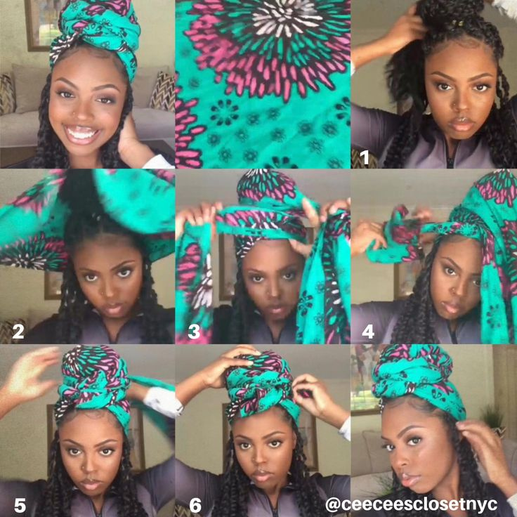 Quick Headscarf tutorial for Passion Twists   – Head Wrap Tutorials
