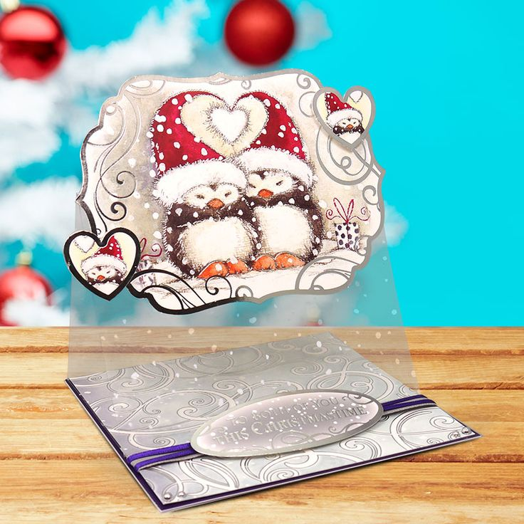 These cute, cuddly penguins really are the sweetest.  This gorgeous card is made from the Christmas Cuddles Collection