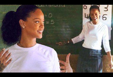 Rihanna teaches impoverished students math in Malawi
