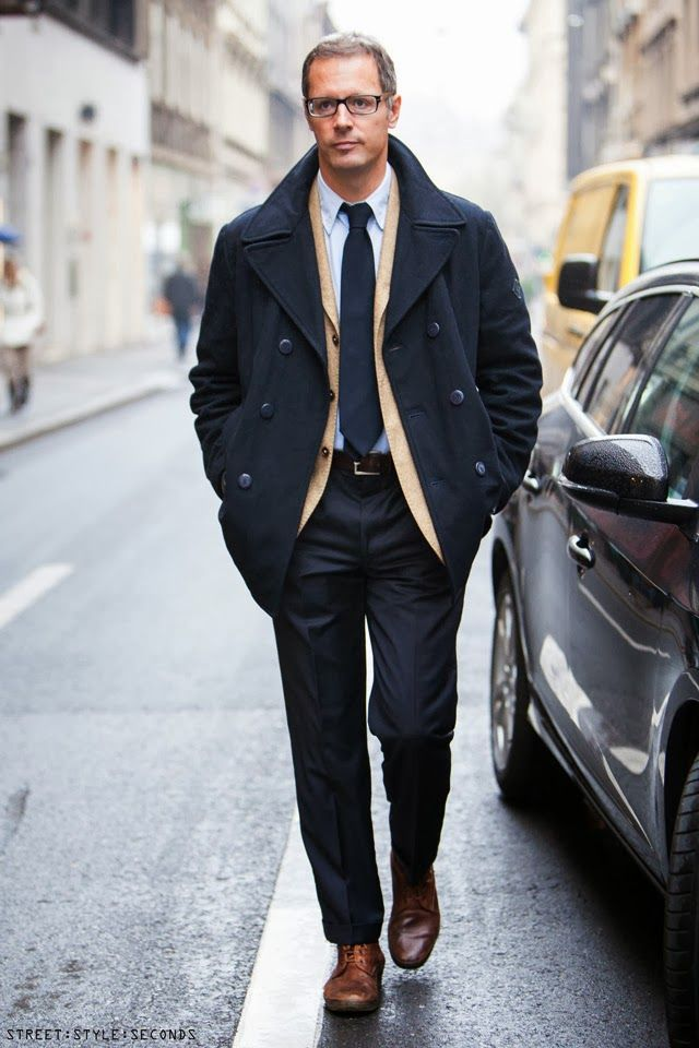 Mens Pea Coat Fashion