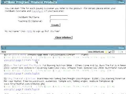 ClickBank Create a Hoplink- Chapter 2