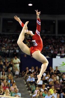 Anna Pavlova (Russia) on balance beam at the 2005 World Championships